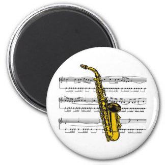 Saxophonmusical 13 B Runder Magnet 5,7 Cm