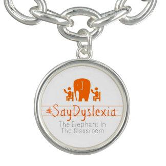 #SayDyslexia rundes Charme-Armband Armband
