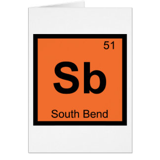 Sb - Chemie-Periodensystem South Bend Indiana Karte
