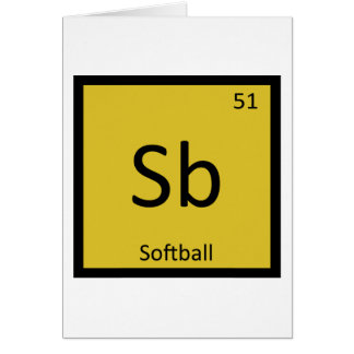 Sb - Softball trägt Chemie-Periodensystem zur Karte