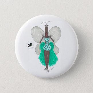 SBM Pseudoceleb-grünes/blaues Geo Runder Button 5,7 Cm