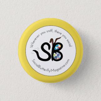 SBM Sommer-Sozialtierlogo-Miniknopf-Button Runder Button 3,2 Cm