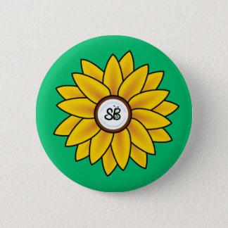 SBM Sonnenblume-Knopf-Button Runder Button 5,7 Cm