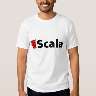 Scala Shirt, schwarzes Logo T Shirt