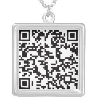 Scannable QR Barcode Personalisierter Schmuck