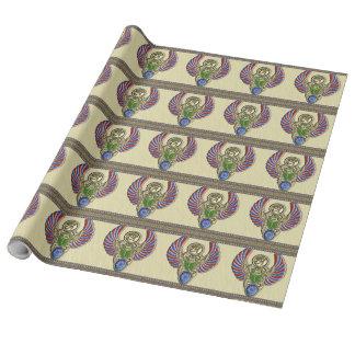 Scarabäus-Auge von Horus Geschenkpapier