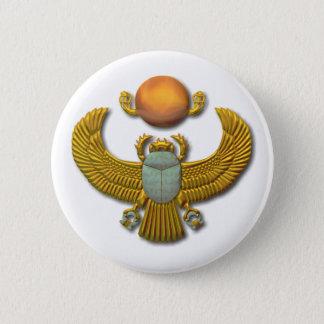 Scarabäus-Gold Runder Button 5,1 Cm