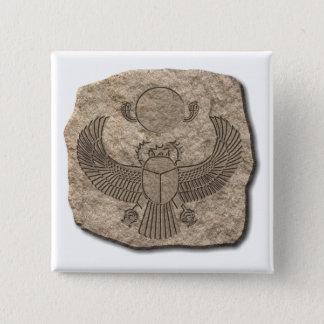 Scarabäus-Stein Quadratischer Button 5,1 Cm