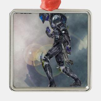 Scarday Druck-Einheit - II Quadratisches Silberfarbenes Ornament