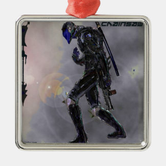 Scarday-Einheit 3 Quadratisches Silberfarbenes Ornament
