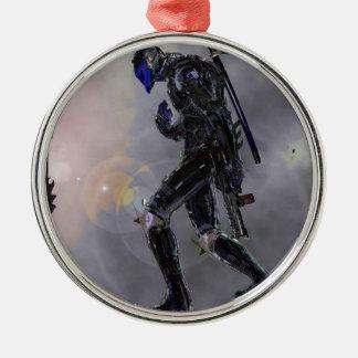 Scarday-Einheit 3 Rundes Silberfarbenes Ornament