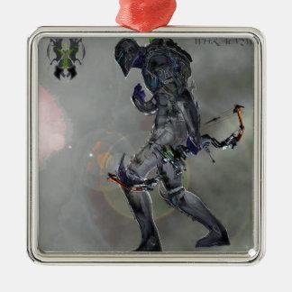 Scarday- Einheits-Drucke Quadratisches Silberfarbenes Ornament