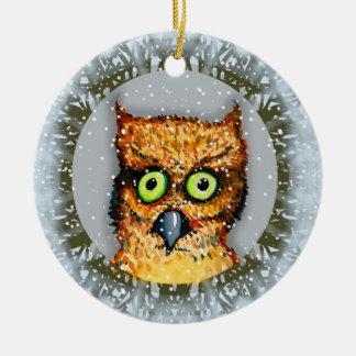 SCARDY EULEN-VERZIERUNG durch SlipperyWindow Keramik Ornament