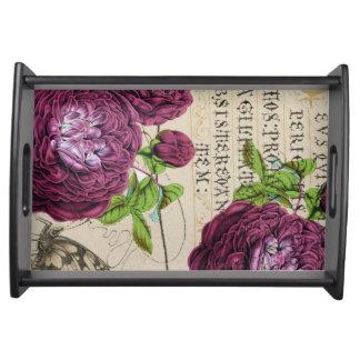 Scarlet-Rose Vintag Serviertablett