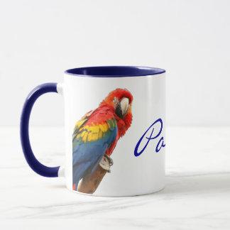 Scarletmacaw-Panama-Keramik-Tasse Tasse