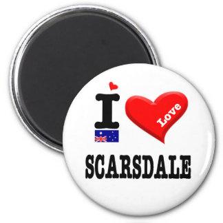 SCARSDALE - I Liebe Runder Magnet 5,7 Cm