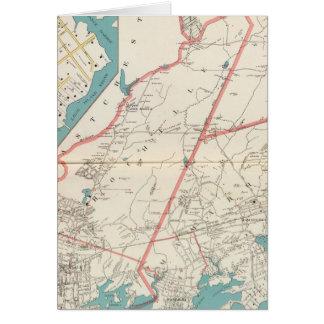 Scarsdale, New Rochelle, Mamaroneck Städte Karte
