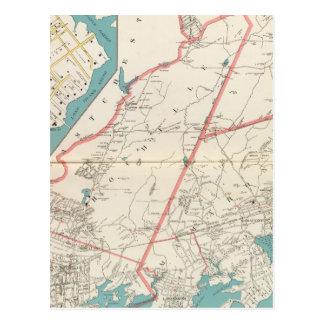 Scarsdale, New Rochelle, Mamaroneck Städte Postkarte