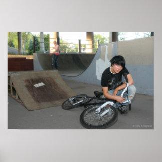 Scenester BMX Modell Plakatdruck