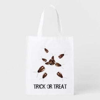 Schaben-Trick-oder Leckerei-Tasche Halloweens Wiederverwendbare Einkaufstaschen