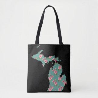 Schäbige Rosen und Punkte Michigans | fertigen es Tasche