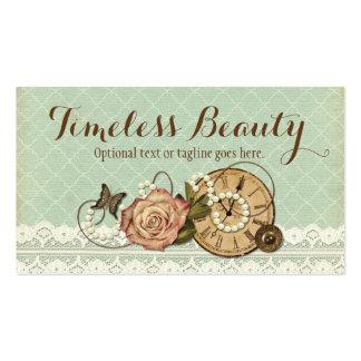 Schäbige Vintage Rose u. Trinkets - Timeless Visitenkarten