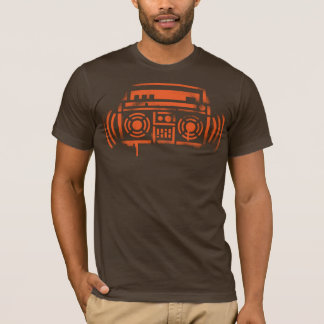 Schablone Boombox T-Shirt
