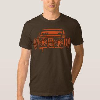Schablone Boombox Tshirts
