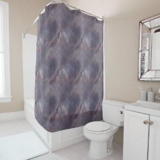 Schablone Duschvorhang