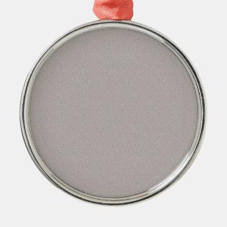 SCHABLONE einfach gefärbt, TEXT und BILD ZU Rundes Silberfarbenes Ornament