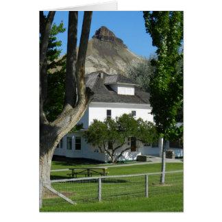 Schablone, historische schräge Ranch James Karte