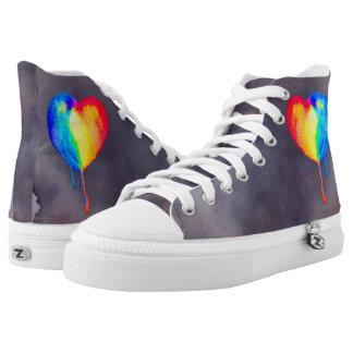 Schablone Hoch-geschnittene Sneaker