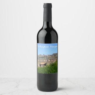 Schablone Pompejis Italien Weinetikett