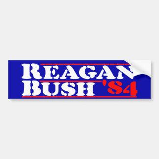 Schablone Reagans Bush '84 Autoaufkleber