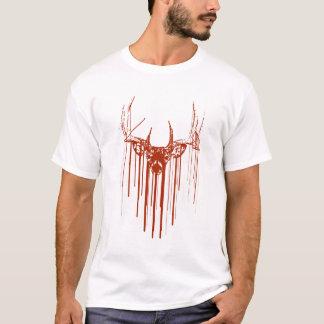 Schablone-Rotwild-Tropfen T-Shirt