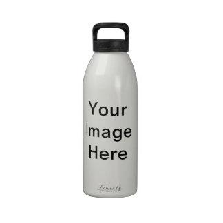Schablone Wiederverwendbare Wasserflaschen