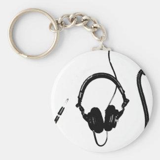 Schablonen-Art DJ-Kopfhörer Standard Runder Schlüsselanhänger