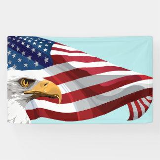 Schablonen-Flagge und Eagle Banner
