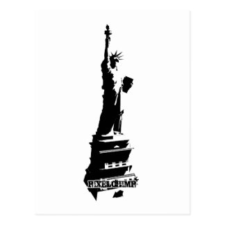 Schablonen-Freiheits-Schwarzes Postkarte