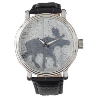 Schablonen-Graffiti-Elche Armbanduhr