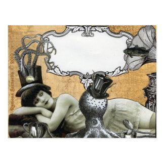 Schablonen-kundenspezifische Kalypso-Postkarte Postkarte