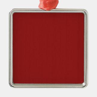Schablonen-leerer roter Schatten addieren leicht Quadratisches Silberfarbenes Ornament