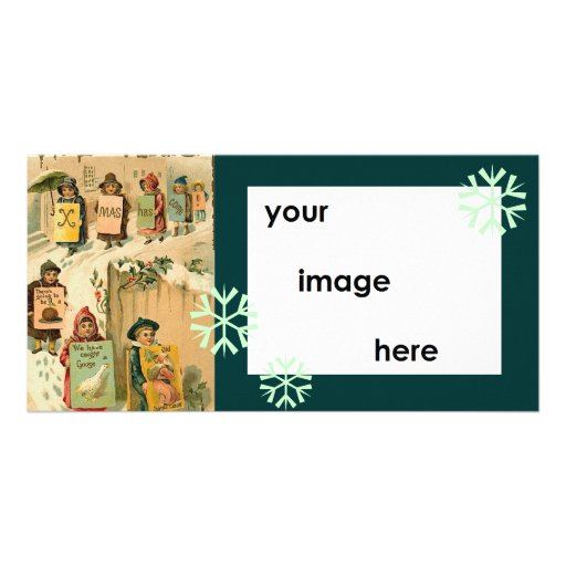 Schablonen-Vintages Parade-Weihnachten Photogrußkarten