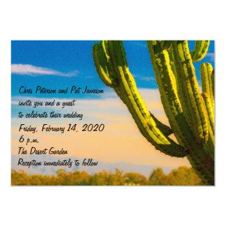 Schablonesaguaro-Kaktus-Wüsten-Hochzeit/Empfang Karte