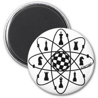 Schach-Atom - Schach-Angelegenheiten Runder Magnet 5,1 Cm
