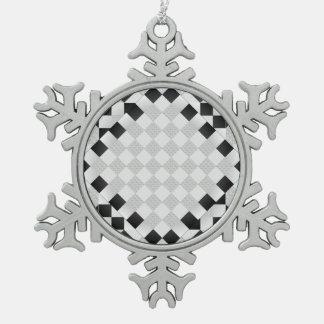 Schach-Auflage durch Kenneth Yoncich Schneeflocken Zinn-Ornament