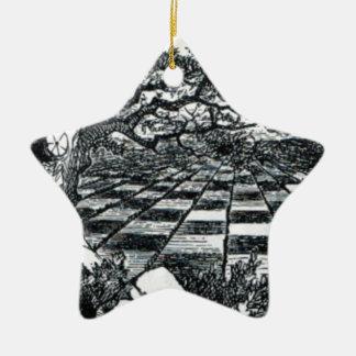 Schach-Brett im Märchenland Keramik Ornament