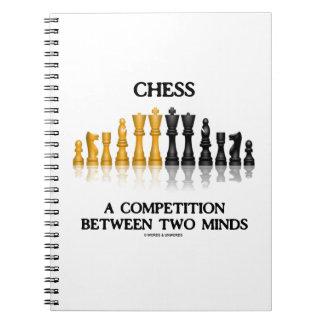 Schach ein Wettbewerb zwischen zwei Verstand Spiral Notizblock