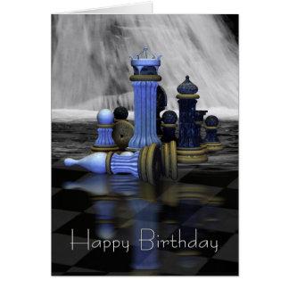 Schach-Geburtstags-Karte Grußkarte