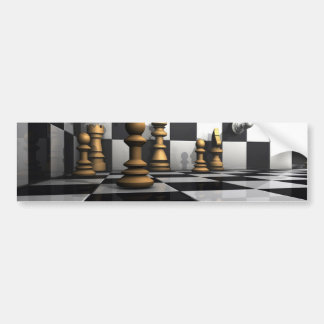Schach-König Play Autoaufkleber